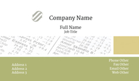 Balance Sheet Accounting Business Card Template